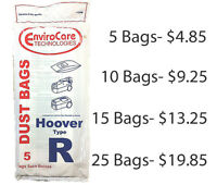 Hoover R Canister Vacuum Bags By EnviroCare (5pk) Fits Tempo and Spirit
