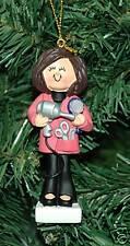 Hair Dresser, Hairdresser, Brunette Christmas Ornament