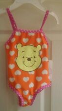 Disney Winnie-the-Pooh, infant girl 1piece bathing suit,  6-9 months UPF+50, NWT