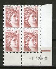 TIMBRE N° 2119 NEUF XX - COIN DATE DU 1-12-80 - SABINE DE GANDON