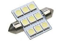 36mm LED Festoon Light Bulb (Fits 35mm 37mm ) Car Interior Light Bulb 6000K