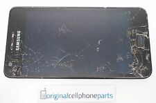 OEM Samsung Galaxy S2 GT-i9100 LCD with Digitizer with Frame BLACK CRACKED LENS