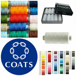Coats Moon Sewing Machine Polyester Thread Cotton 1000 yards x 10 cops