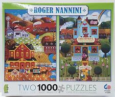 CEACO® 1000pc 2 pack ROGER NANNINI PUZZLES Jig Saw 1000 Piece USA MADE