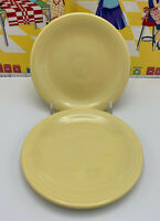 "2 Retired Contemporary Fiesta Ware Yellow (1987-2002) 6"" Bread & Butter Plates"