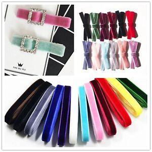 "32.8 Feets (10 Meter) 10mm(3/8"") Velvet Ribbon Gift Bow Wedding Pick Your Color"