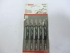 New Bosch T111C HCS 4-Inch 8-Tooth Jig Saw Blade 5-Pack AEG Black&Decker Hitachi
