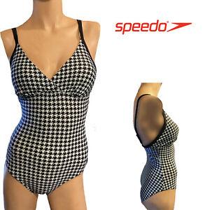 16/38 Speedo Crossback Padded Swimsuit  Blue/Black