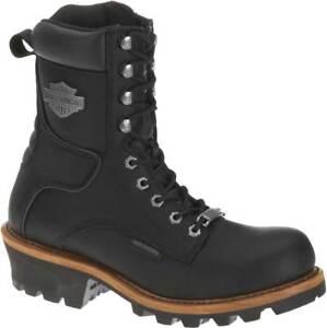 Harley-Davidson Men's Tyson Logger Black 7.5-Inch Motorcycle Boots, D95188