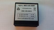 Akku / Accu HBC Funksteuerung  6 V / 800 mAh / NiMH -Neuware- - mit Rechnung -