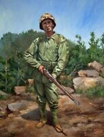 Mark Maritato Signed The Marine Art Print World War 2 WW2 USMC Marines Okinawa