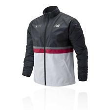 New Balance Mens London Marathon Jacket Top - Black White Sports Running