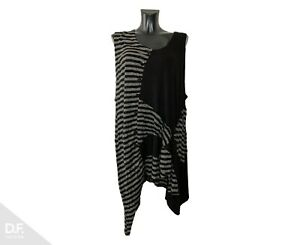 PRISA Damen Kleid / Tunika mit Knöpfen ⁂Ärmlos ⁂Lagenlook ⁂Viskose 44/46/48 ⁂EU