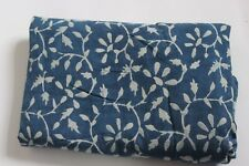 Hand Block Print 10 Yard Fabric, 100% Cotton and Natural Indigo Color fabric  21