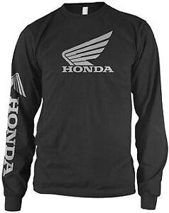Honda Collection Wing Long-Sleeve T-Shirt Motorcycle Street Bike