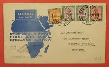 1931 Sudan Imperial Airways First Flight Khartoum To England