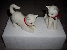 Lenox 2-piece Set of China Playful Cat/Kitten Figurines-Msrp $58.0-Coa-Nib