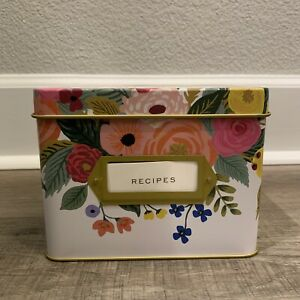Rifle Paper Co. Recipe Tin Box in Juliet Rose Pattern - New W/ Sealed Inserts