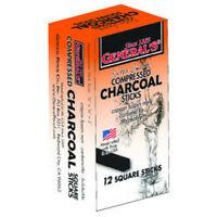 GENERAL PENCIL CO., INC. 9572B 2B MEDIUM COMPRESSED CHARCOAL STICKS 12/BOX
