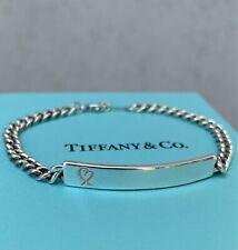 Rare Tiffany & Co Paloma Picasso Loving Heart Chain ID Plate Bracelet Unisex 925