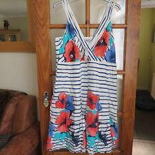M&S Per Una White/print Summer dress Size 20 Long BNWT