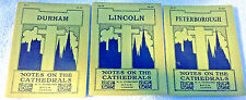 NOTES ON CATHEDRALS 3 Vintage English Guide Books: DURHAM, LINCOLN, PETERBOROUGH