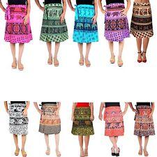 10 Pcs Lot Cotton Knee Length Skirt Animal Print Wrap Around Sarong Skirt