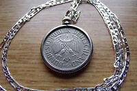 "1950 German Deutsche Mark Classic Eagle Coin Pendant 18"" .925 Silver Link Chain"