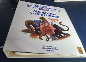 REDUCED! 2nd edition Dungeons & Dragons Monster Compendiums.