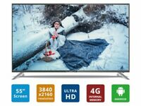 """New but with Scratch Soniq 55"""" UHD 4K LED LCD Android Smart TV PVR T2S55UV16A"""