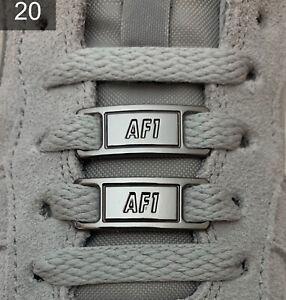 ❤️ Neue Nike Air Force 1 Schnallen Lace Locks Buckles Schwarz Silber 2 Stück✅