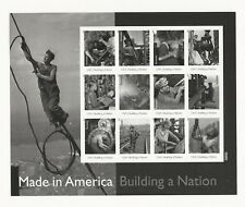 2013 #4801 Made in America Building a Nation Pane of 12 Forever Stamps Random