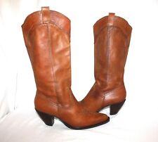 WHITE MOUNTAIN DALLAS Women's Western Boots Tan/Brown Leather Sz 8.5 M