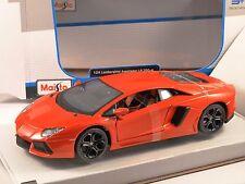 LAMBORGHINI AVENTADOR LP700-4 in Orange - 1/24 scale model by Maisto
