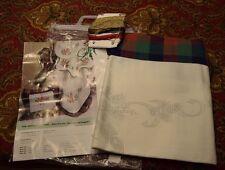 FHA Christmas Stamped Cross Stitch Tablecloth w/ Thread - Germany