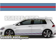 VW Volkswagen MARTINI side racing stripes 001 vinyl graphics stickers Golf GTi