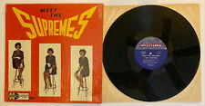 Meet The Supremes - Ultra RARE 1962 Motown 1st Press Stool Cover (NM) In Shrink