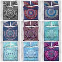 Indian Duvet Doona Cover Comforter Mandala Hippie Bohemian Queen Size Quilt Set
