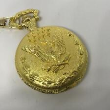 Tone Pocket Watch Usa American Eagle Gold