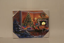 Weihnachten LED Beleuchtung Rentier Suchen in Fenster bei Kamin & Baum Bild