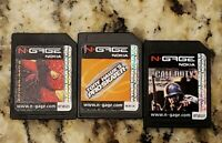 Call of Duty & Tony Hawk's Pro Skater Spiderman 2 Nokia N-Gage Lot Bundle TESTED