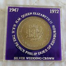 1972 ELIZABETH AND PHILIP CROWN - purple surround