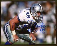 Daryl Johnston Moose Dallas Cowboys Signed 8x10 Photo Authentic Autograph Auto 2