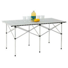 Portable Camping Aluminum Folding Table Extended Version,140cm x 70cm-Table only