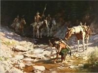 Howard Terpning Stones That Speak 39x32 Framed Limited Edition Lithograph Print
