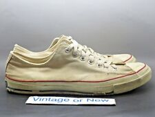 VTG Original 1960 60's Converse All Star Low OX White Canvas Blue Label sz 13