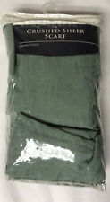 """Sears Colormate Crushed Sheer Scarf Crinkle Voile Mineral 51"""" x 216"""""""