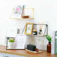 Floating Corner Shelf Wall Mounted  Wood Storage Shelf Home Office Deco