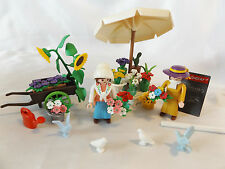 Playmobil Rare Victorian Flower Seller Stand 5343, Street Market w/ Box, Mansion