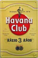 Havana Club Cuban Rum embossed steel sign 300mm x 200mm (hi)
